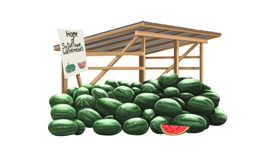 Sugartown Watermelon Stand - Beauregard Parish Louisiana